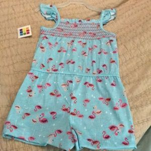 NWT 4t flamingo romper 3 for $20